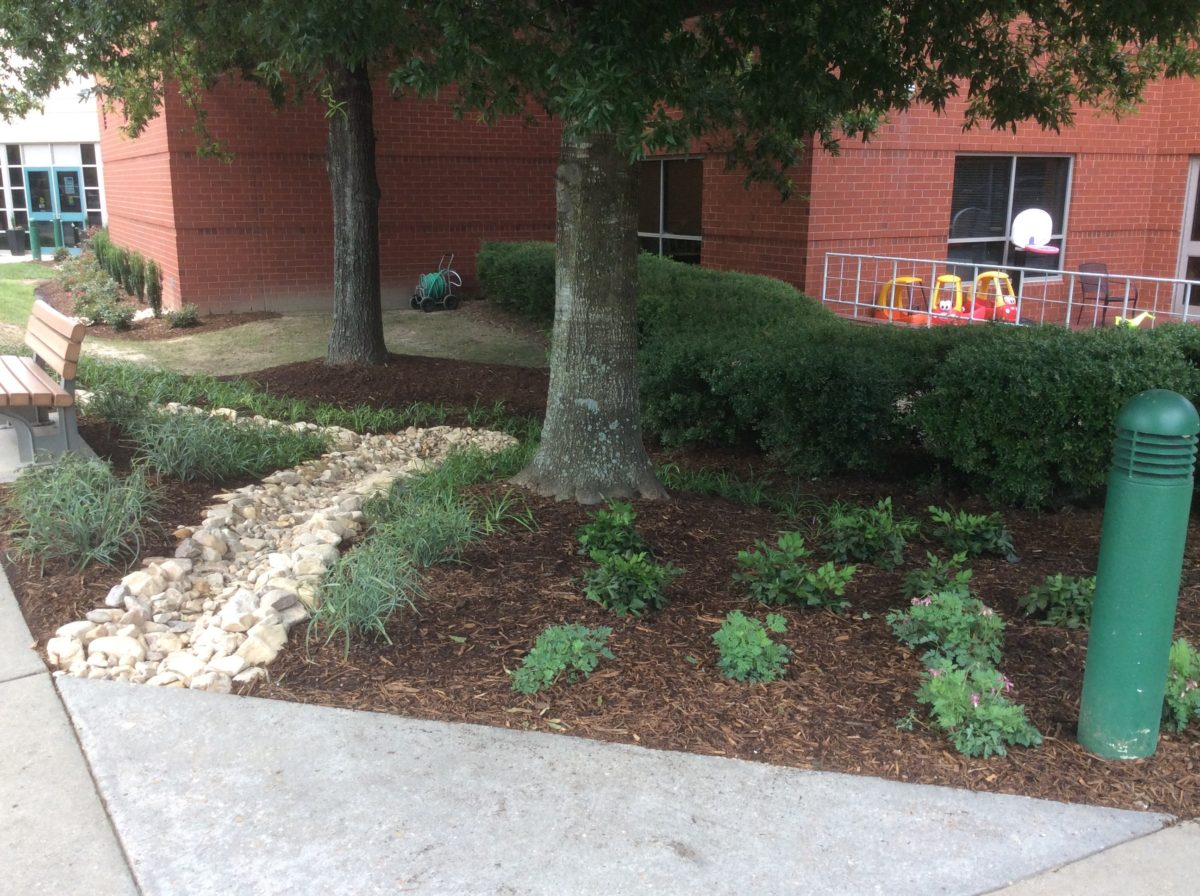 Landscaping at James City County Recreation Center